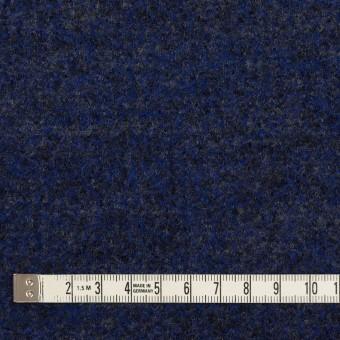ウール&ナイロン×ミックス(マリンブルー&チャコール)×かわり編み サムネイル4