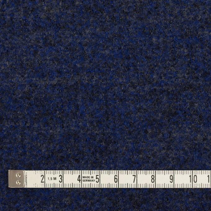 ウール&ナイロン×ミックス(マリンブルー&チャコール)×かわり編み イメージ4
