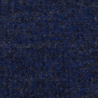 ウール&ナイロン×ミックス(マリンブルー&チャコール)×かわり編み