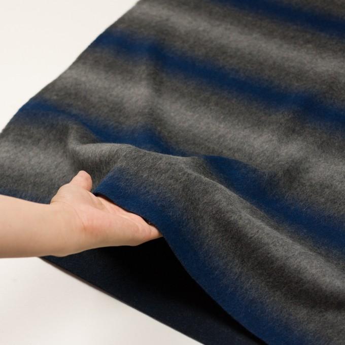 ウール&カシミア×オンブレ(ブルー&グレー)×ビーバー_全2色 イメージ6