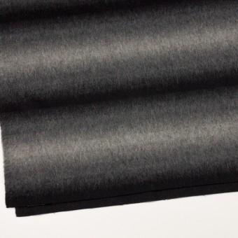 ウール&カシミア×オンブレ(ブラック&グレー)×ビーバー_全2色 サムネイル2