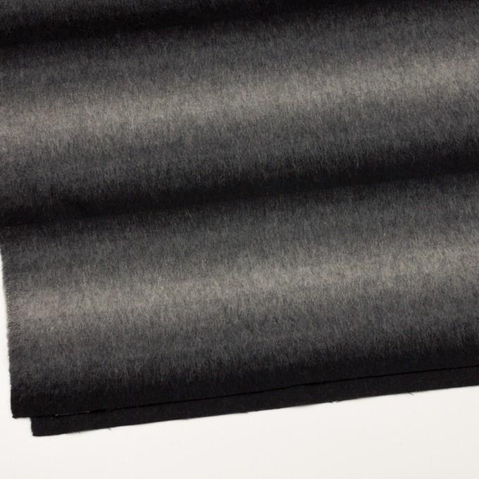 ウール&カシミア×オンブレ(ブラック&グレー)×ビーバー_全2色 イメージ2