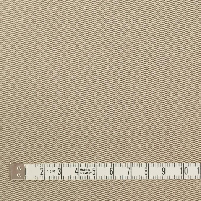 コットン×無地(ベージュ&ダークブラウン)×シャンブレーチノクロス_全3色 イメージ3