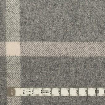 ウール&ポリウレタン×チェック(グレー)×フラノ(フランネル) サムネイル4
