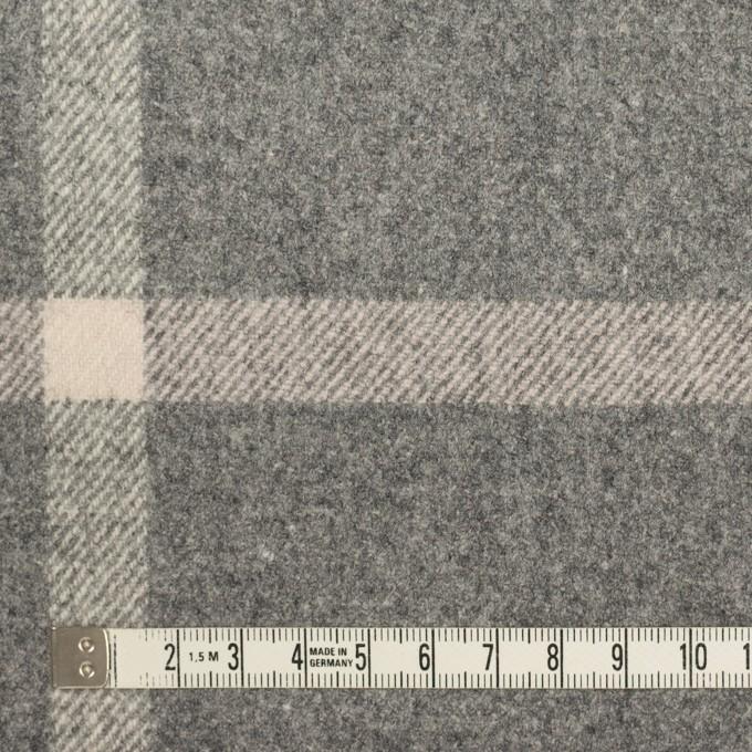 ウール&ポリウレタン×チェック(グレー)×フラノ(フランネル) イメージ4