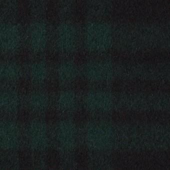 ウール&カシミア×チェック(ブラックウォッチ)×ビーバー