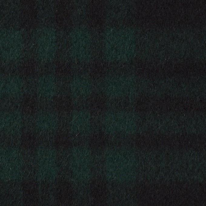 ウール&カシミア×チェック(ブラックウォッチ)×ビーバー イメージ1