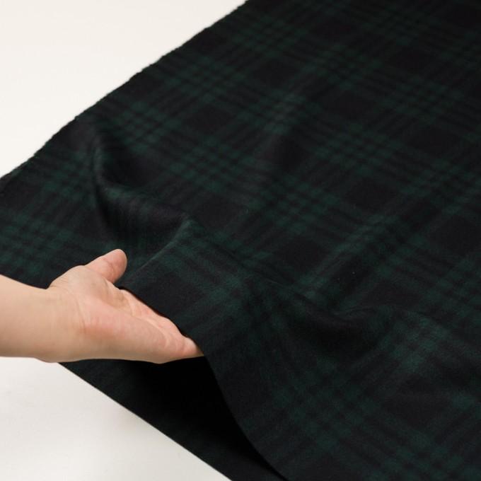 ウール&カシミア×チェック(ブラックウォッチ)×ビーバー イメージ5