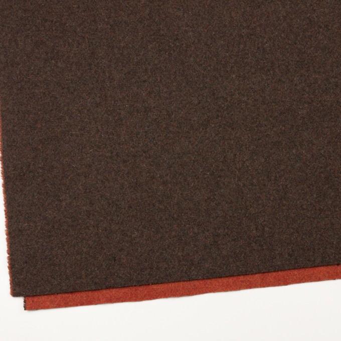ウール&ポリエステル混×無地(カーキブラウン&トマト)×Wツイード_全4色 イメージ2