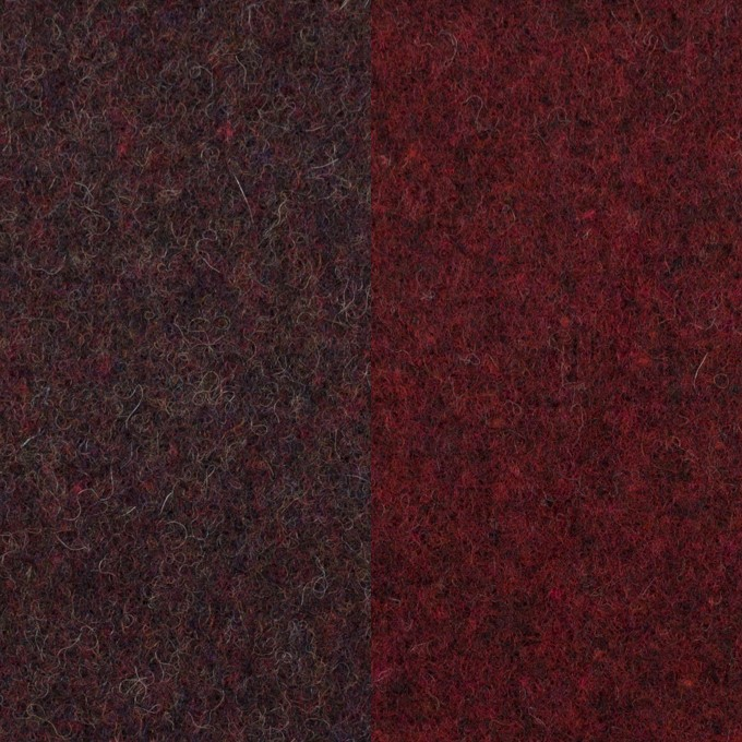 ウール&ポリエステル混×無地(レーズン&ガーネット)×Wツイード_全4色 イメージ1