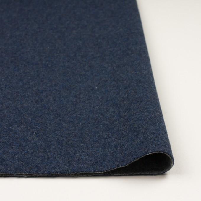 ウール&ポリエステル混×無地(ミッドナイトブルー&グレー)×Wツイード_全4色 イメージ3