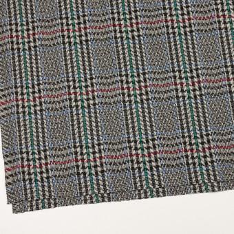 ウール×チェック(グレー&ブラック)×かわり織 サムネイル2