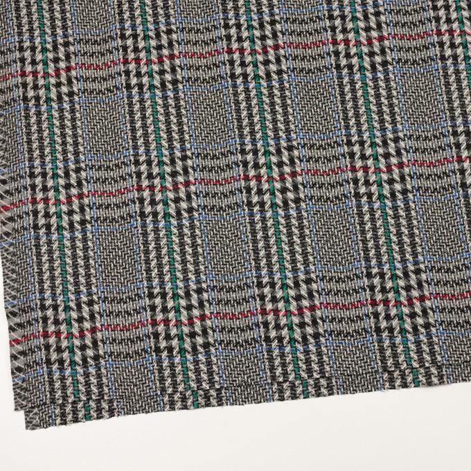 ウール×チェック(グレー&ブラック)×かわり織 イメージ2
