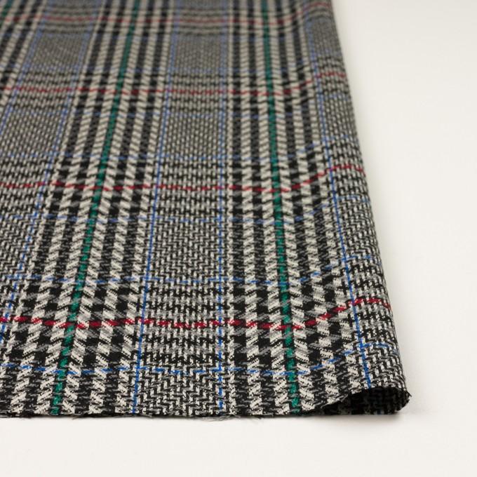 ウール×チェック(グレー&ブラック)×かわり織 イメージ3
