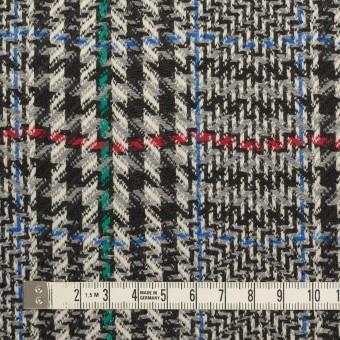 ウール×チェック(グレー&ブラック)×かわり織 サムネイル4