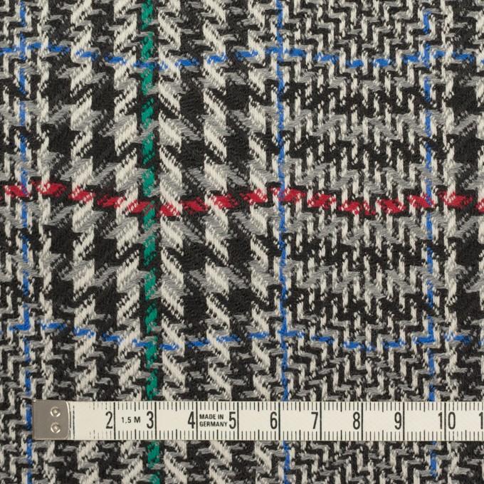 ウール×チェック(グレー&ブラック)×かわり織 イメージ4