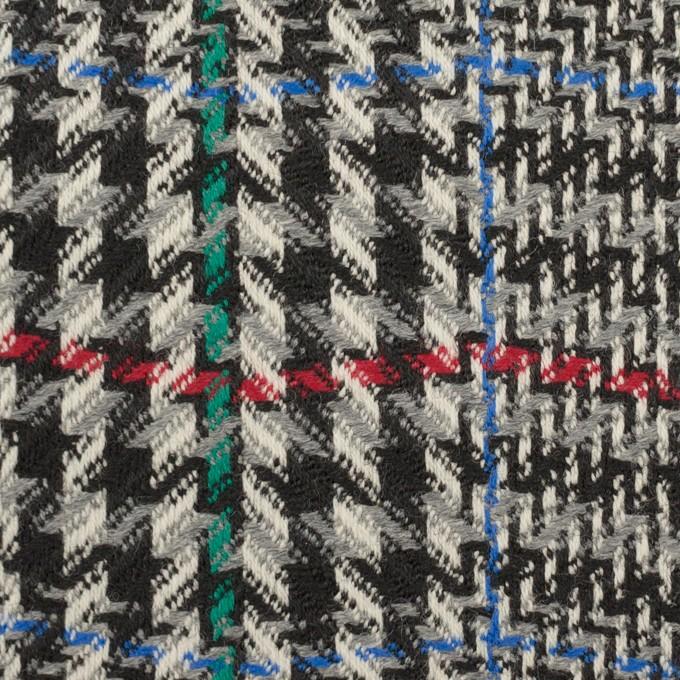 ウール×チェック(グレー&ブラック)×かわり織 イメージ1