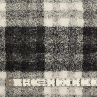 ウール×チェック(ブラック)×Wガーゼ サムネイル4