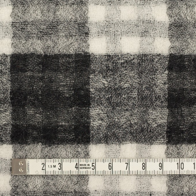 ウール×チェック(ブラック)×Wガーゼ イメージ4