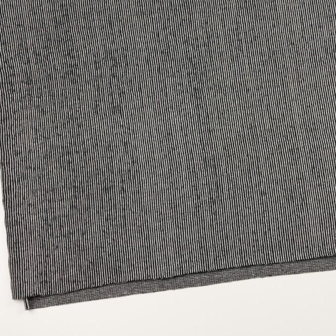 コットン×ストライプ(ブラック)×かわり編み イメージ2