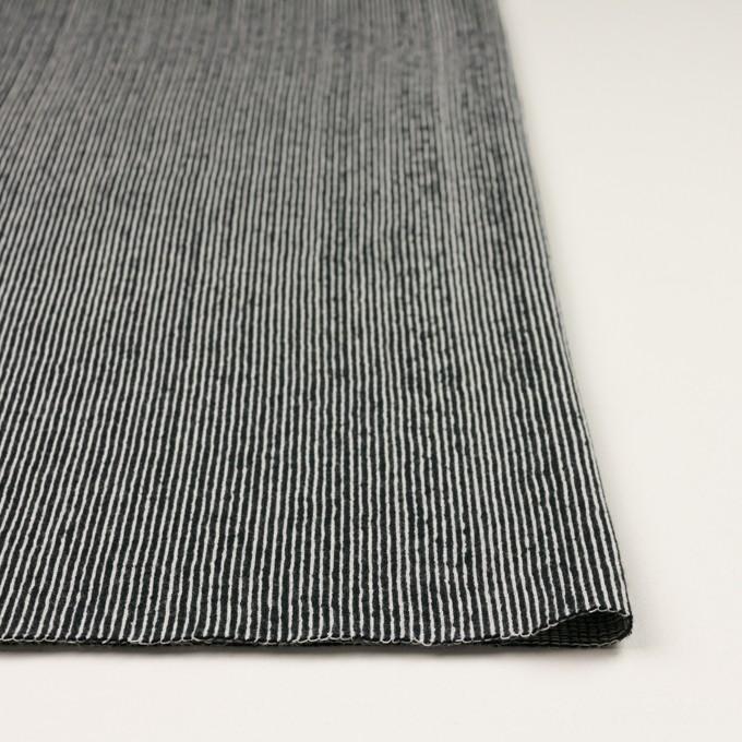 コットン×ストライプ(ブラック)×かわり編み イメージ3