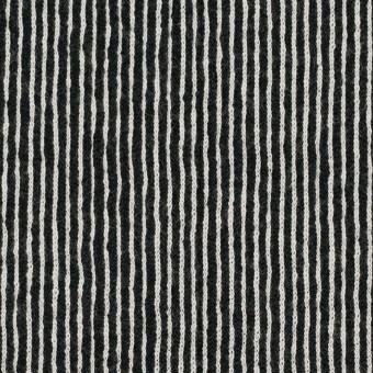 コットン×ストライプ(ブラック)×かわり編み