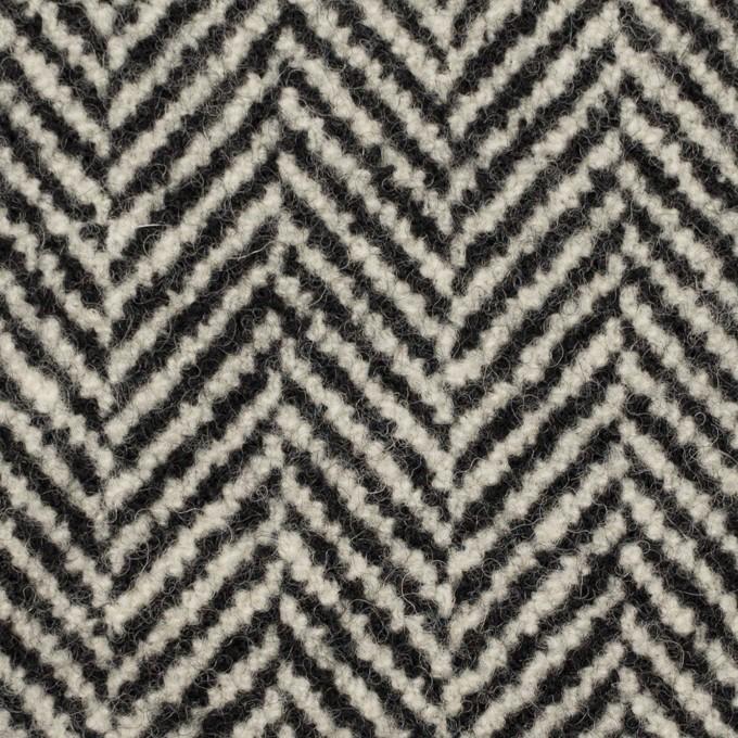 ウール&ポリウレタン×ミックス(ブラック)×ファンシーツイード イメージ1