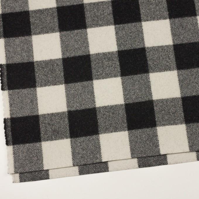 ウール&ナイロン×チェック(ブラック)×ツイード イメージ2