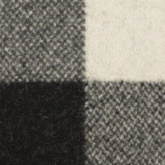 ウール&ナイロン×チェック(ブラック)×ツイード サムネイル1