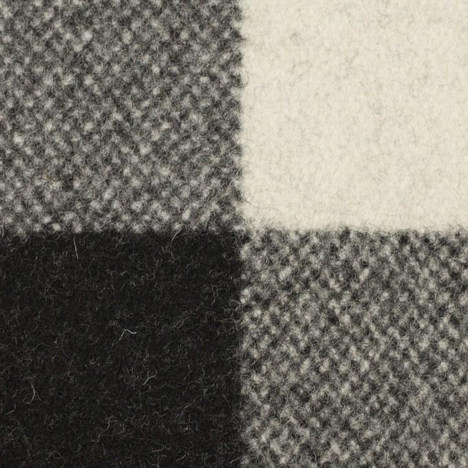 ウール&ナイロン×チェック(ブラック)×ツイード イメージ1