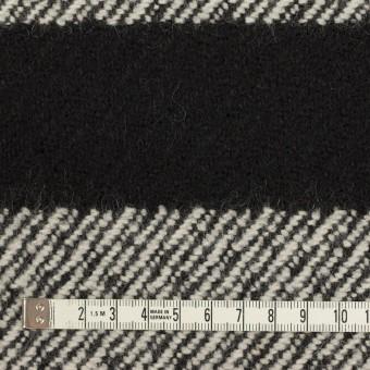 ウール&ナイロン×ボーダー(ブラック)×カルゼ_イタリア製 サムネイル4