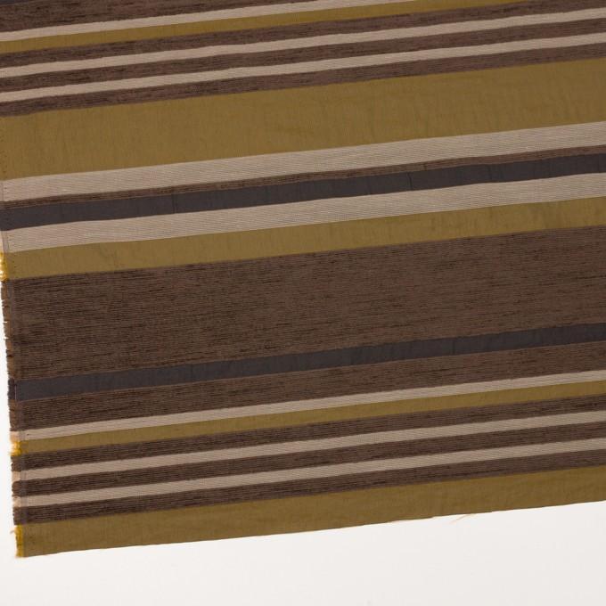アクリル&ポリエステル混×ボーダー(アンティークゴールド)×ジャガード_全2色_イタリア製_パネル イメージ2