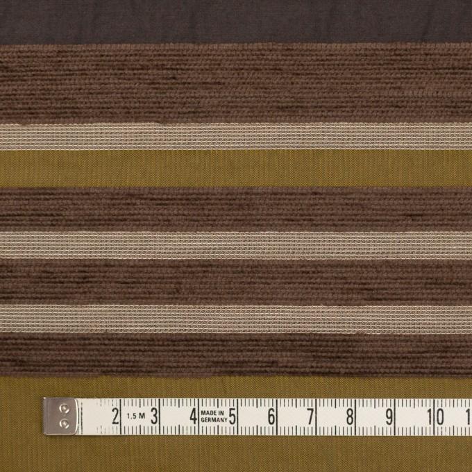 アクリル&ポリエステル混×ボーダー(アンティークゴールド)×ジャガード_全2色_イタリア製_パネル イメージ4