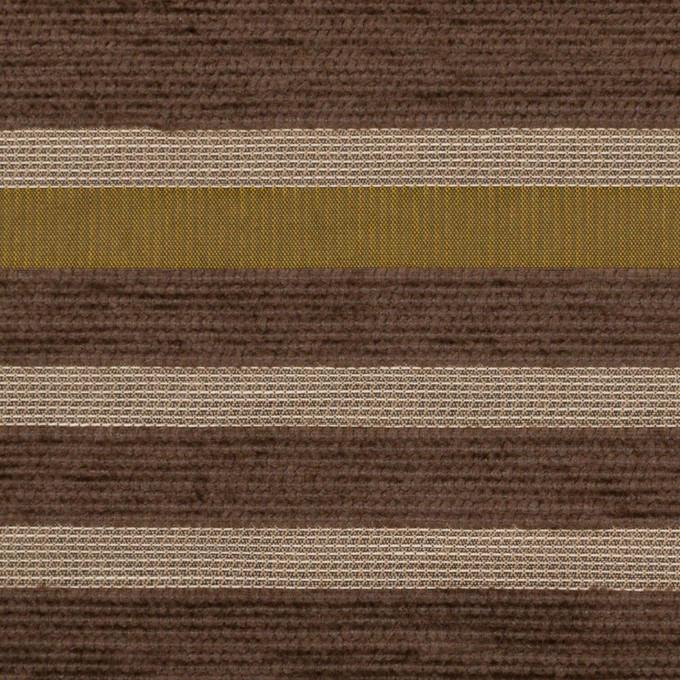 アクリル&ポリエステル混×ボーダー(アンティークゴールド)×ジャガード_全2色_イタリア製_パネル イメージ1