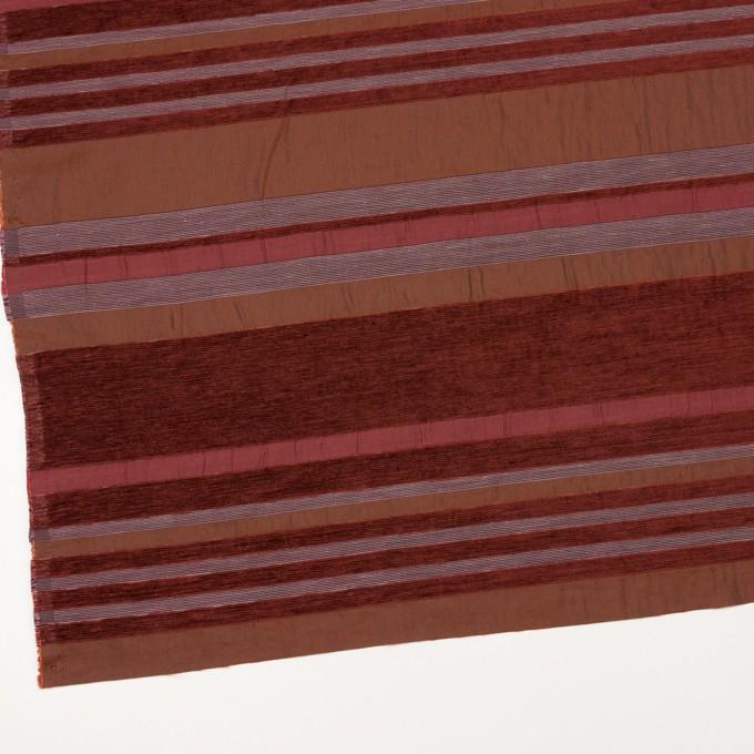 アクリル&ポリエステル混×ボーダー(ガーネット)×ジャガード_全2色_イタリア製_パネル イメージ2