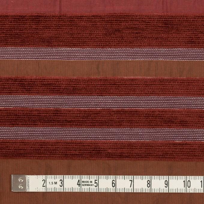 アクリル&ポリエステル混×ボーダー(ガーネット)×ジャガード_全2色_イタリア製_パネル イメージ4