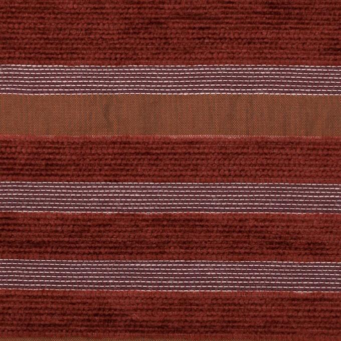 アクリル&ポリエステル混×ボーダー(ガーネット)×ジャガード_全2色_イタリア製_パネル イメージ1