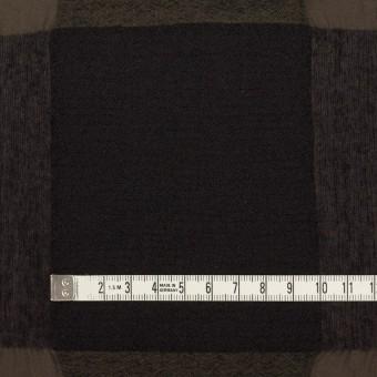 ウール&コットン×チェック(カーキブラウン&ブラック)×ボイル サムネイル4