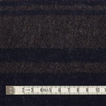 ウール×ボーダー(カーキブラウン&ネイビー)×ガーゼ サムネイル4