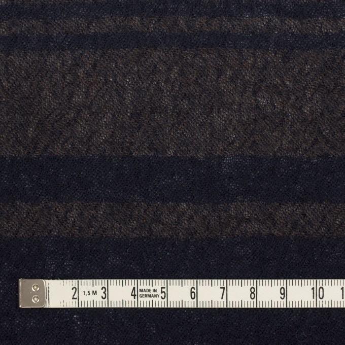 ウール×ボーダー(カーキブラウン&ネイビー)×ガーゼ イメージ4