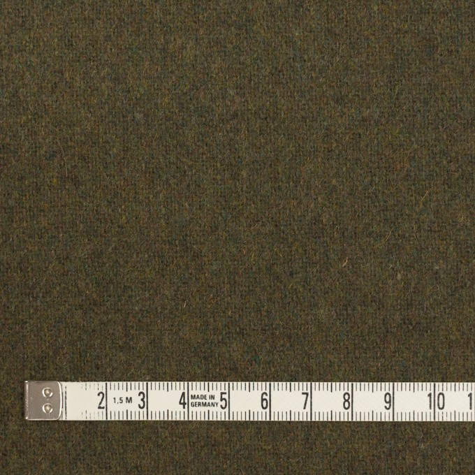 ウール×無地(カーキグリーン)×ツイード イメージ4