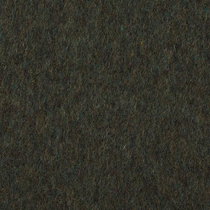 ウール×無地(モスグリーン)×ビーバー イメージ1