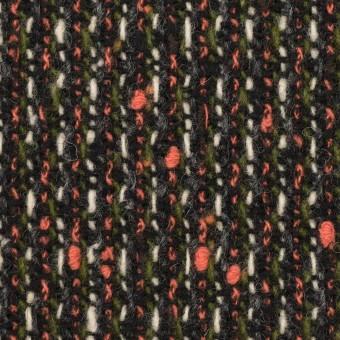 ウール×ミックス(スカーレット、グリーン&ブラック)×ファンシーツイード
