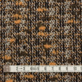 ウール&アクリル混×ミックス(オレンジ&ブラウン)×ファンシーツイード サムネイル4