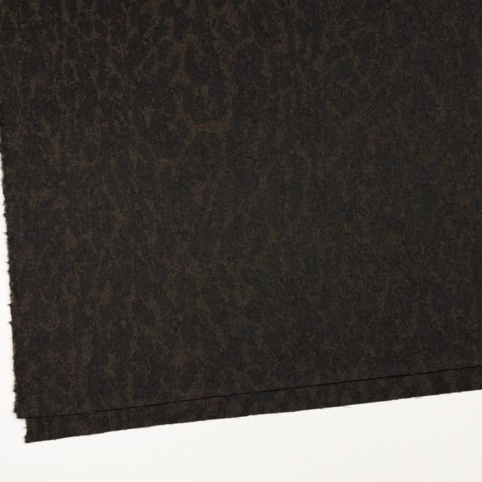 ウール×幾何学模様(カーキベージュ&チャコール)×ジャガード_全2色 イメージ2