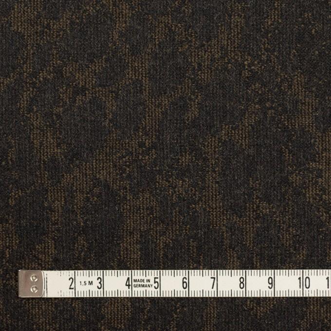 ウール×幾何学模様(カーキベージュ&チャコール)×ジャガード_全2色 イメージ4