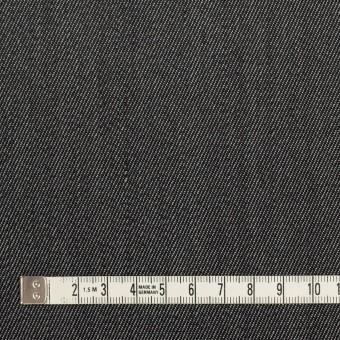 ウール&ポリエステル×無地(チャコールグレー)×二重織サージ サムネイル4