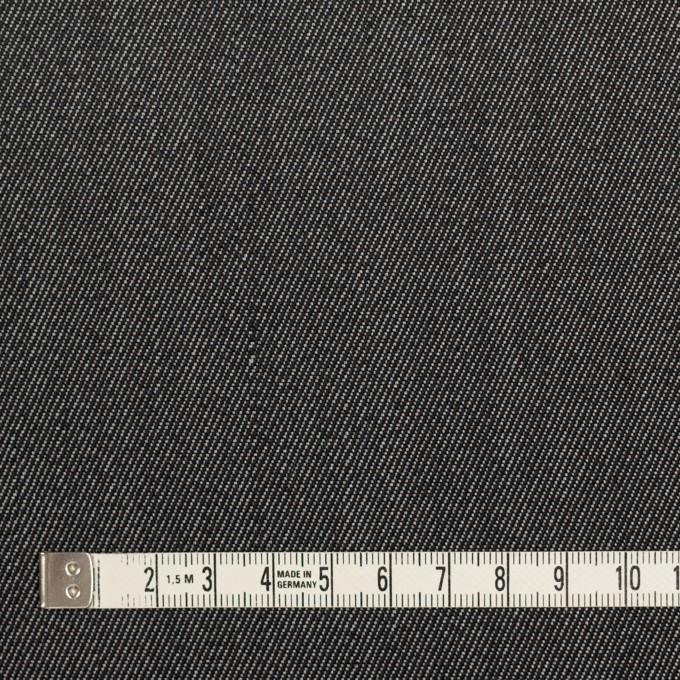 ウール&ポリエステル×無地(チャコールグレー)×二重織サージ イメージ4