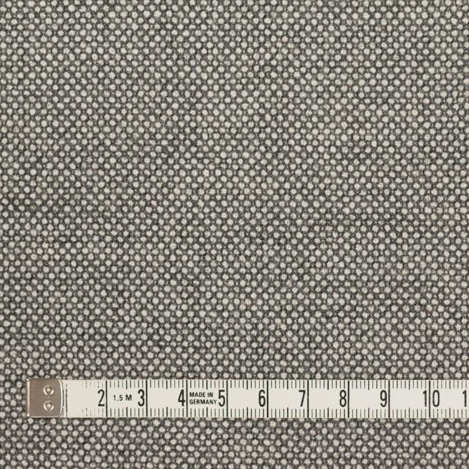 ウール&ポリウレタン×ミックス(グレー)×バーズアイ・ストレッチ イメージ4