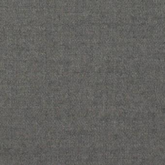 ウール&アンゴラ混×無地(グレー)×サージストレッチ_全2色